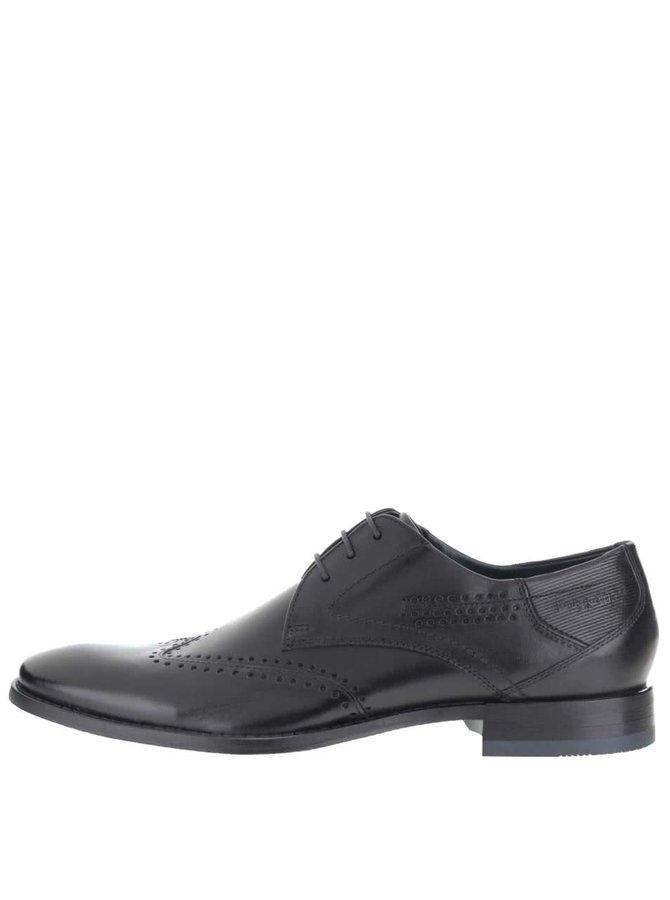 Pantofi bărbătești negri din piele bugatti Raimondo