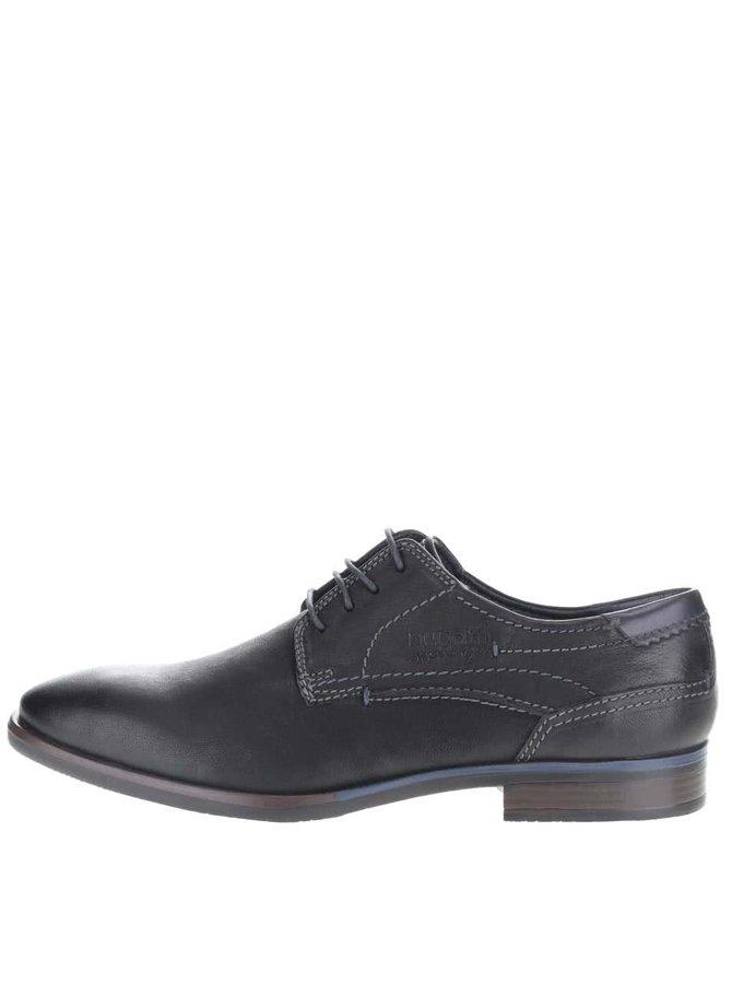 Pantofi albastru cu negru bugatti Levio bărbătești din piele