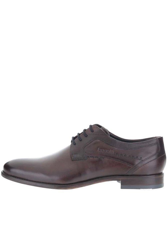 Pantofi bărbătești maro închis din piele bugatti Bettino LC