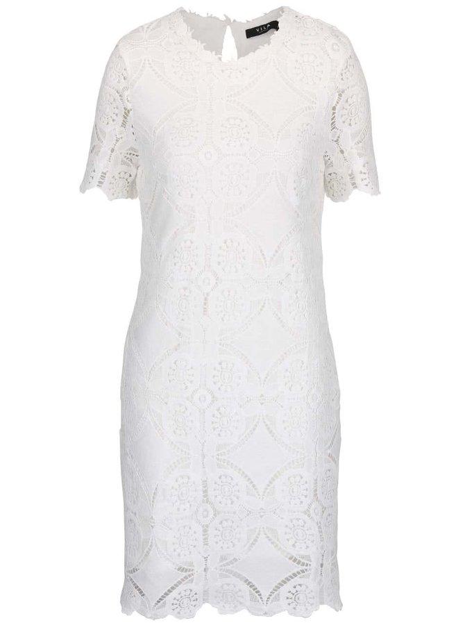Krémové čipkované šaty VILA Rasmi