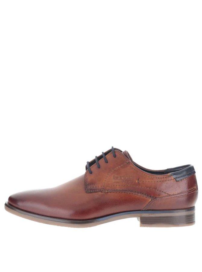 Pantofi bugatti Levio bărbătești maro din piele