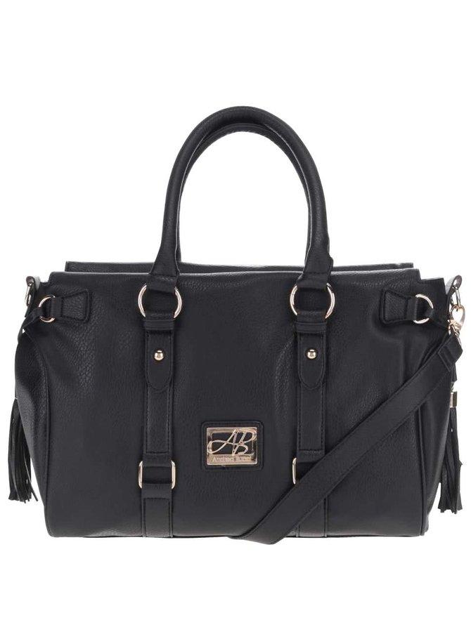 Čierna kabelka s detailmi v zlatej farbe Andrea Bucci