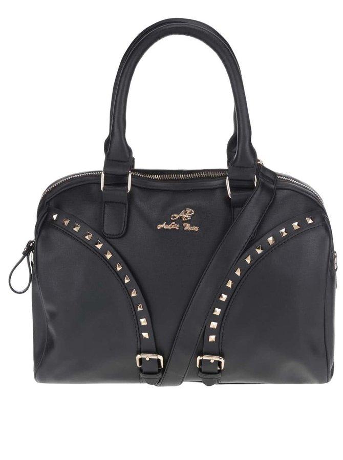 Čierna kabelka s aplikáciou v zlatej farbe Andrea Bucci