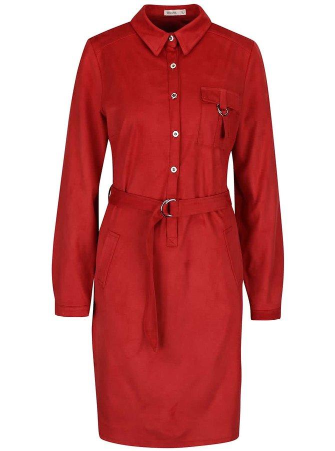 Rochie tip cămașă Lavand roșie