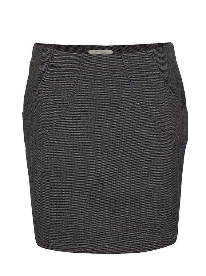 Fialovo-čierna sukňa s vreckami Skunkfunk Ederne