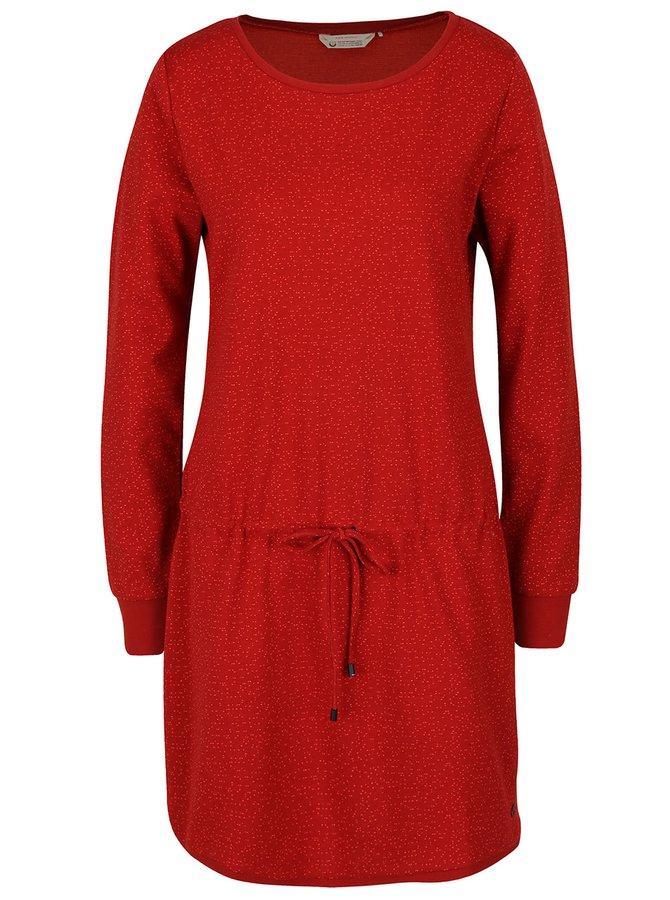 Rochie roșie Skunkfunk Kata cu model