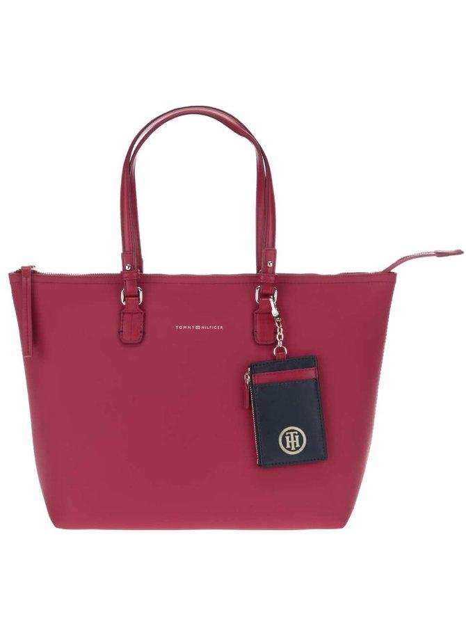 Ružová obojstranná kabelka Tommy Hilfiger