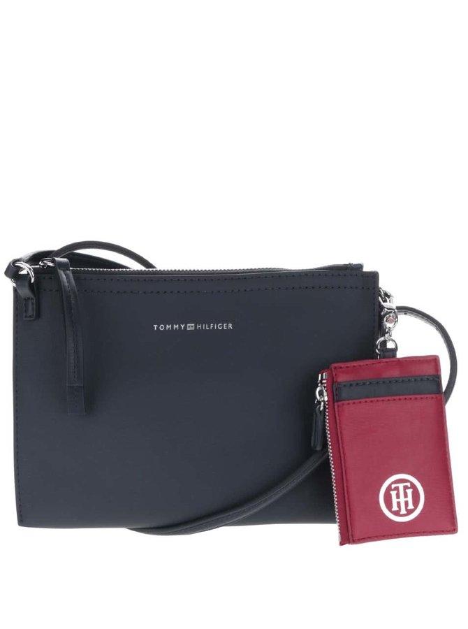 Tmavomodrá menšia kabelka s červeným puzdrom Tommy Hilfiger