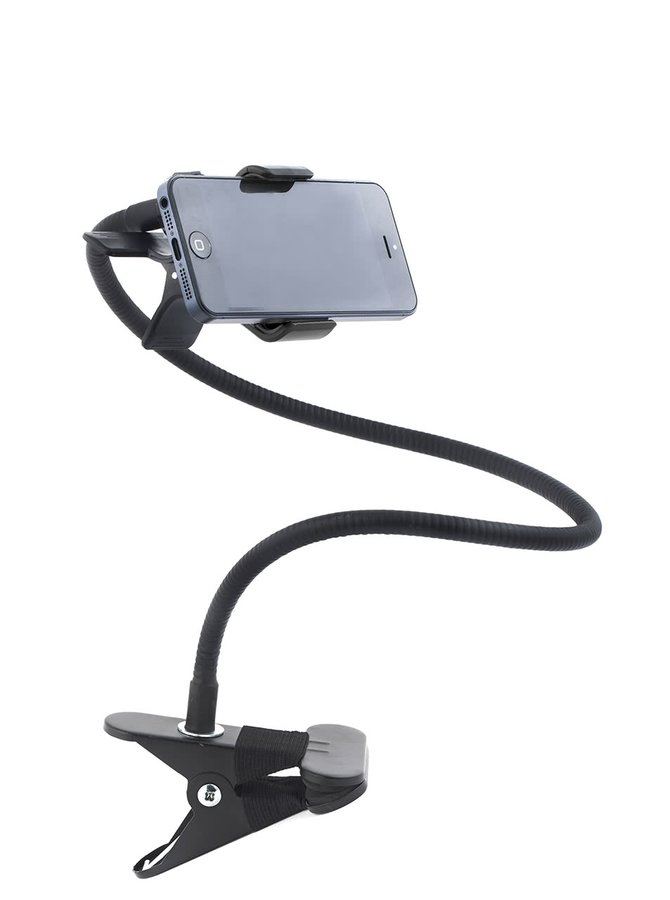 Černý ohebný držák na mobil Kikkerland