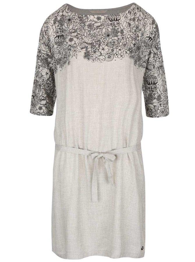 Sivé šaty s kvetinovou potlačou Skunkfunk Pyke