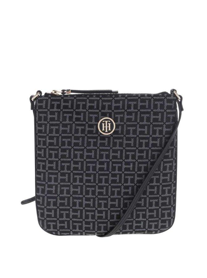 Černá menší kabelka se vzorem Tommy Hilfiger