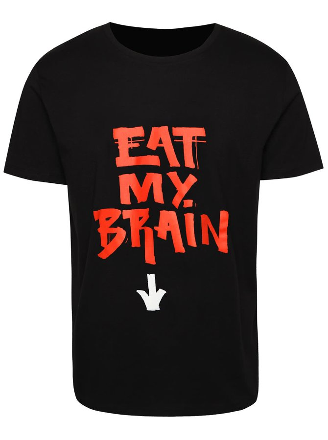 Černé pánské triko s nápisem ZOOT Originál Eat My Brain