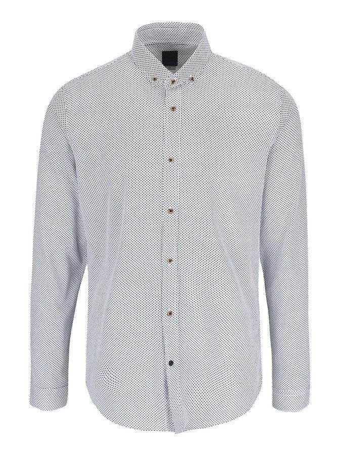 Čierno-krémová vzorovaná košeľa Bertoni Malte