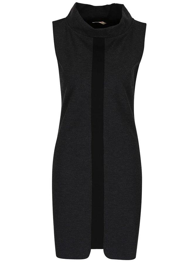 Tmavosivé šaty bez rukávov Skunkfunk Minnie