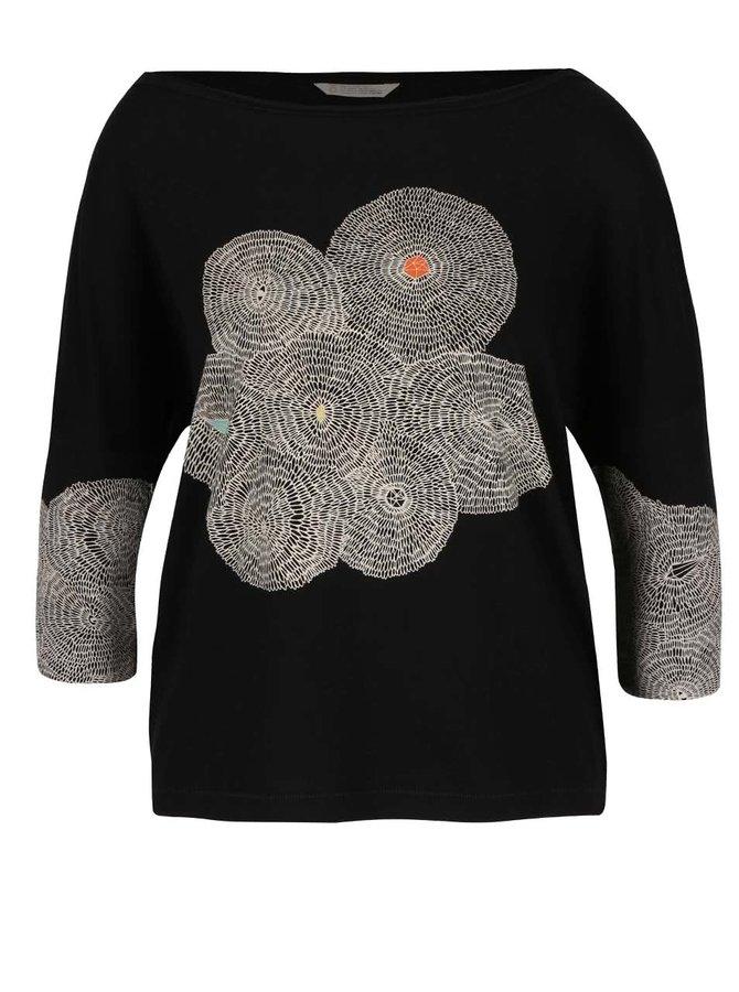 Černé oversize tričko se vzorem Skunkfunk Maindy