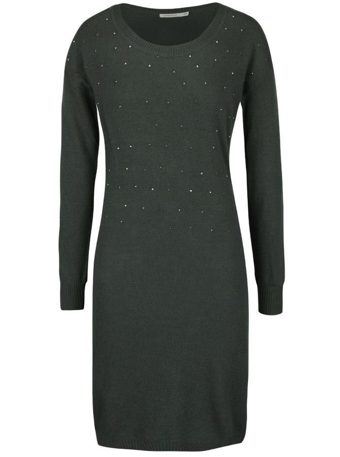 Kaki svetrové šaty Lavand