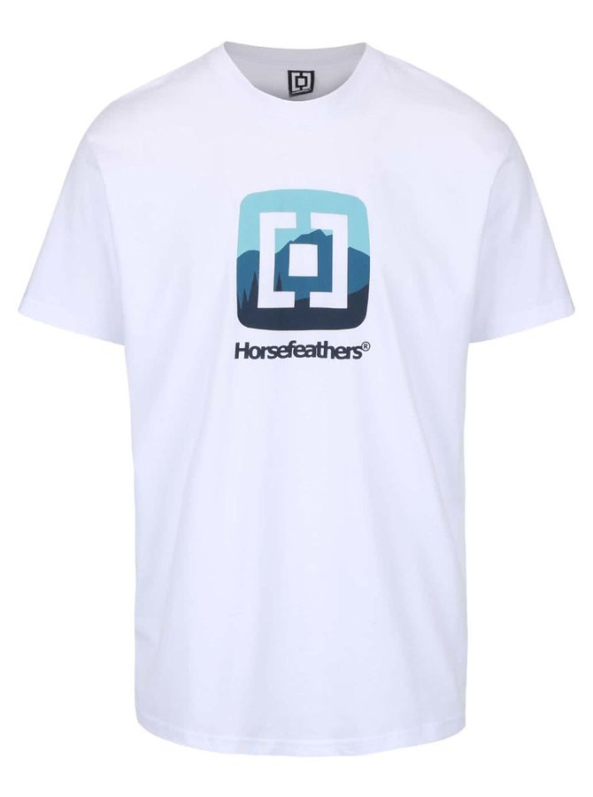 Tricou alb Horsefeathers Resort cu print