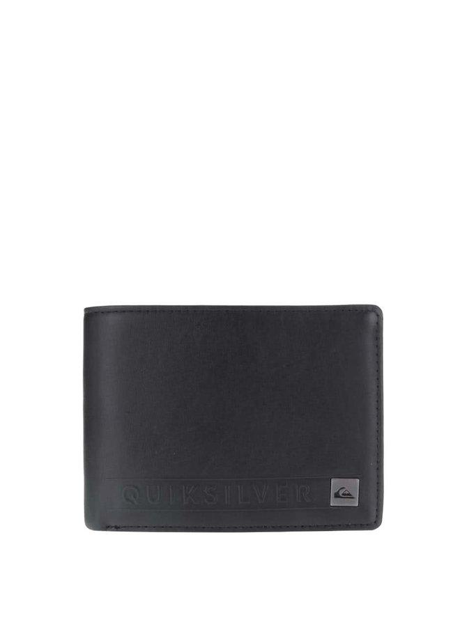 Čierna pánska kožená peňaženka Quiksilver Mack