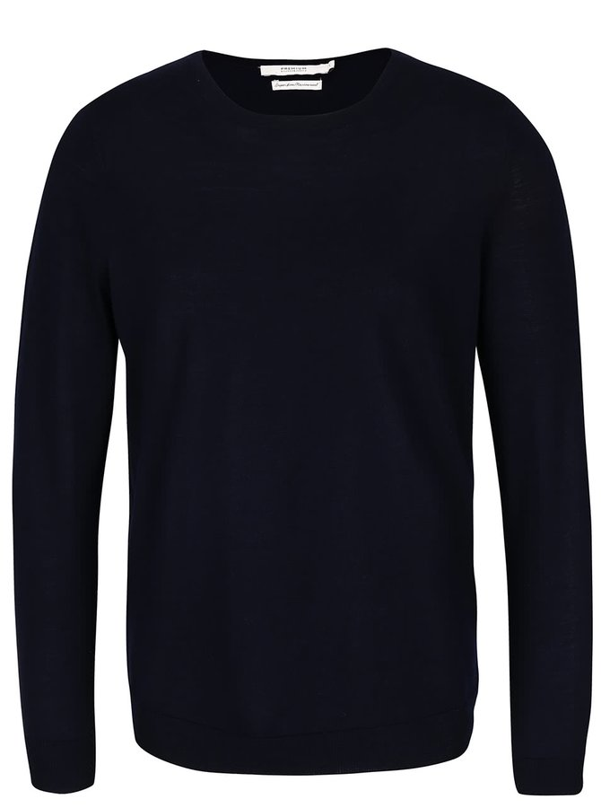 Tmavomodrý vlnený sveter Jack & Jones Premium Mark