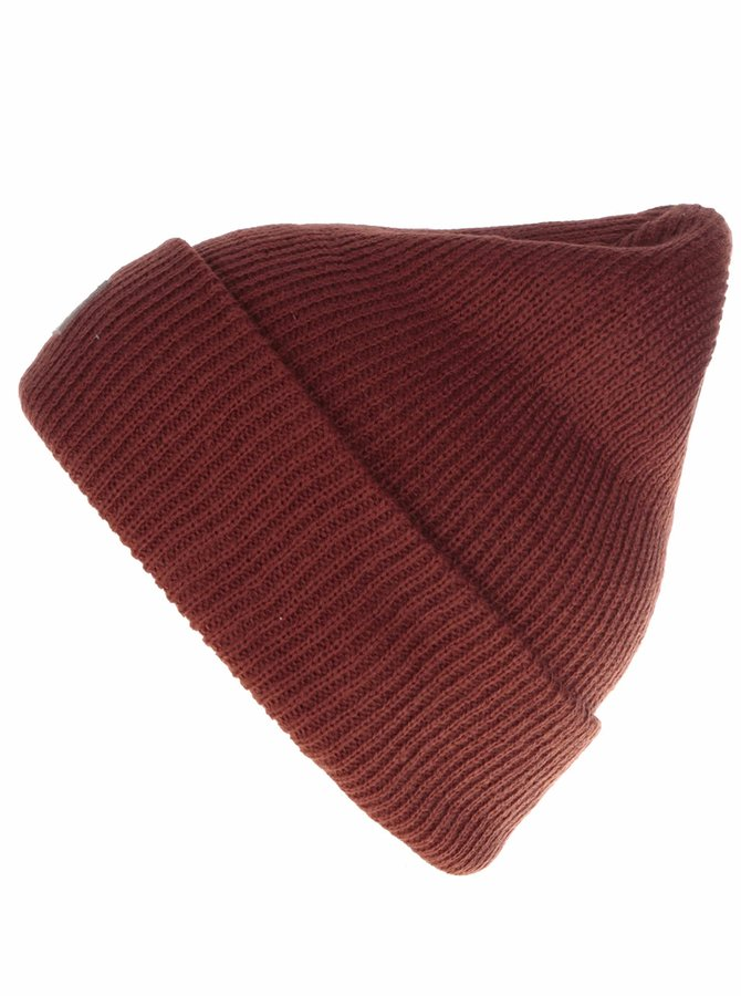 Červenohnědá pánská čepice s logem Quiksilver Performer