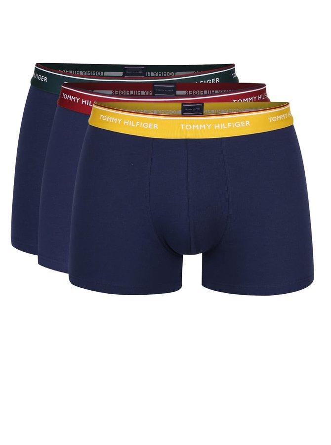 Súprava troch tmavých boxerok s farebnými lemami Tommy Hilfiger