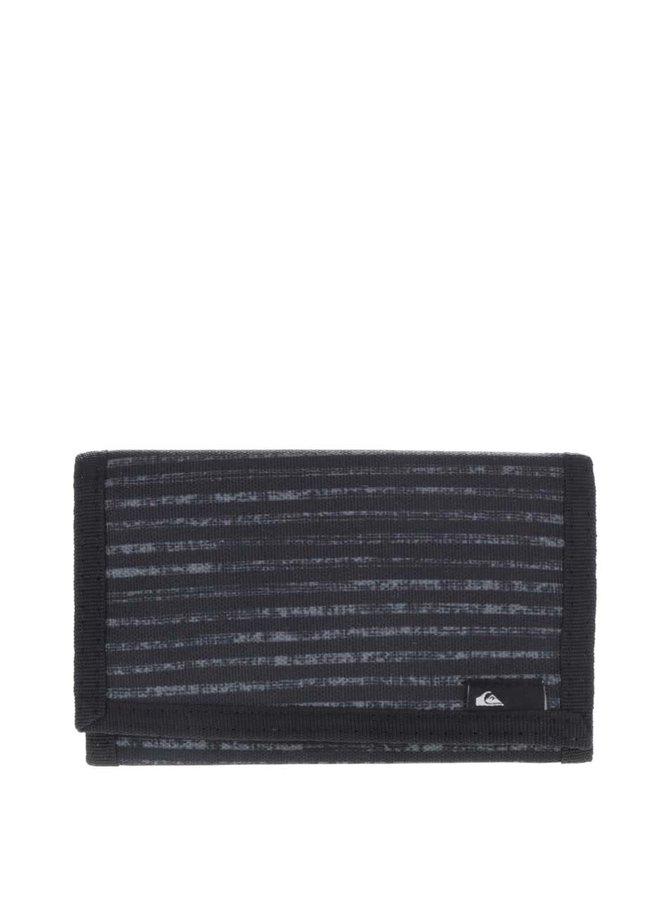 Čierna pánska vzorovaná peňaženka Quiksilver Reception