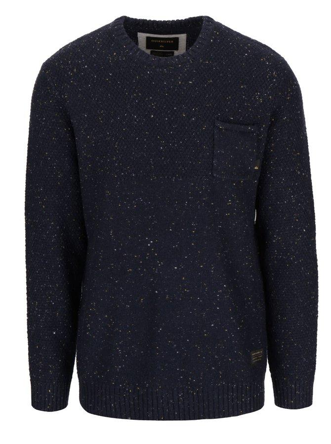 Tmavomodrý pánsky melírovaný sveter Quiksilver Newchester