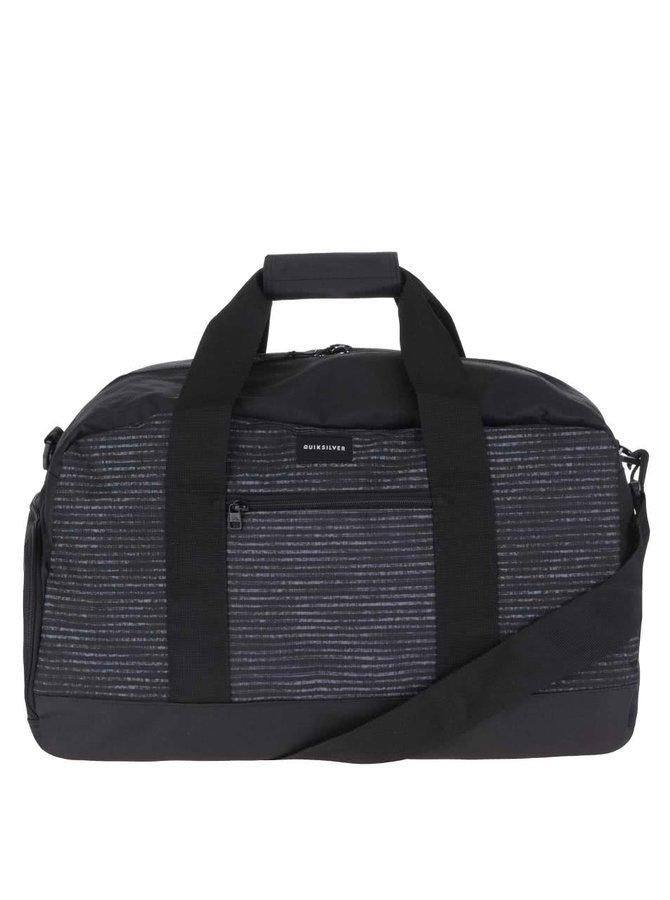 Šedo-černá pánská cestovní taška s pruhy Quiksilver Shelter