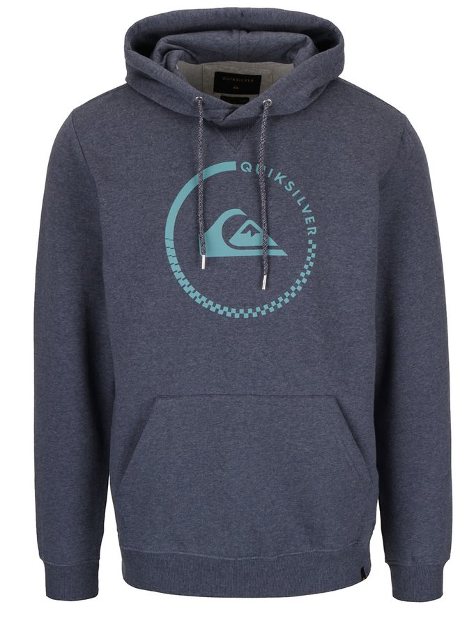 Hanorac gri Quiksilver Everyday Crew cu print