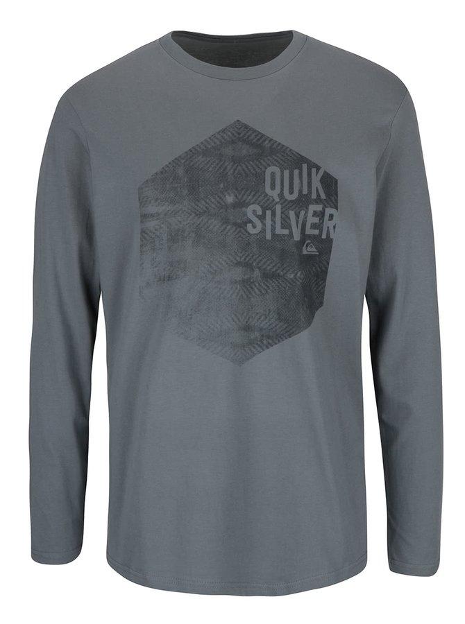 Bluză gri Quiksilver  Classteels Jumhe din bumbac cu imprimeu