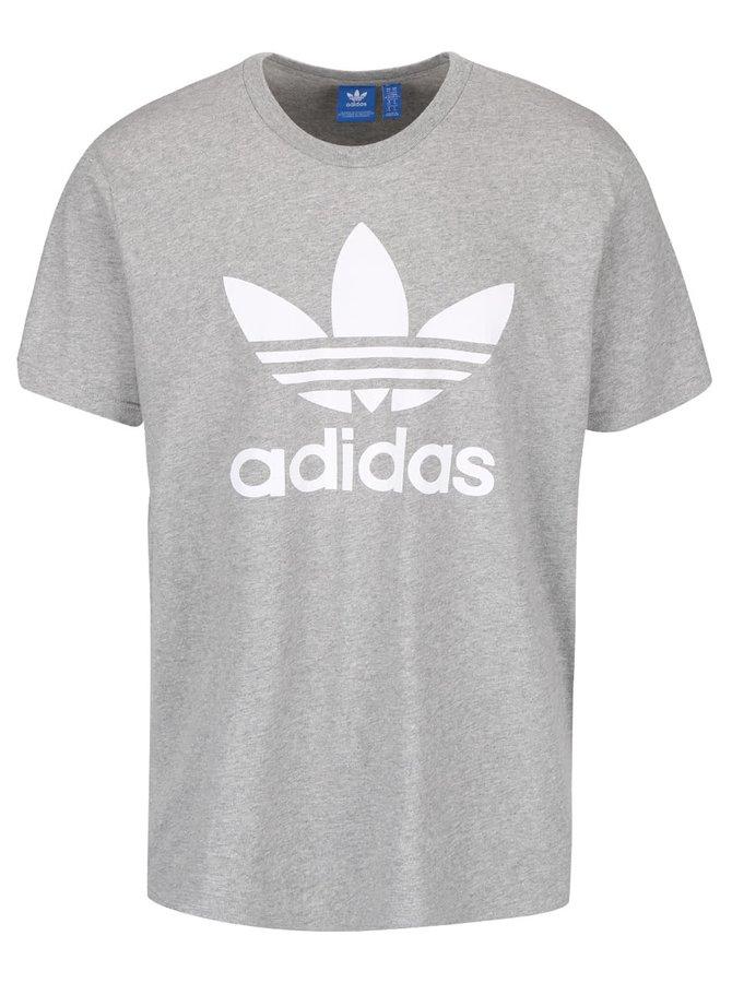 Sivé pánske tričko s potlačou adidas Originals