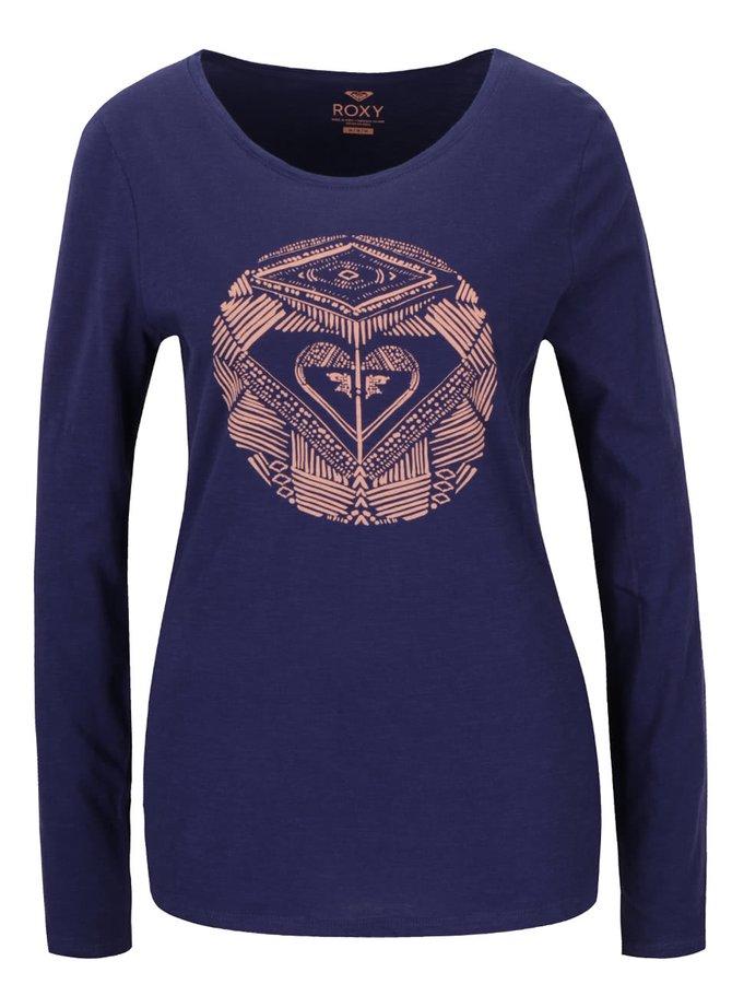 Bluză bleumarin Roxy Tonikdancingon cu print