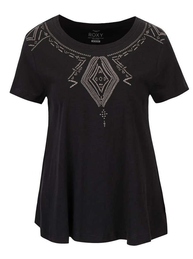 Tricou negru Roxy Point cu print