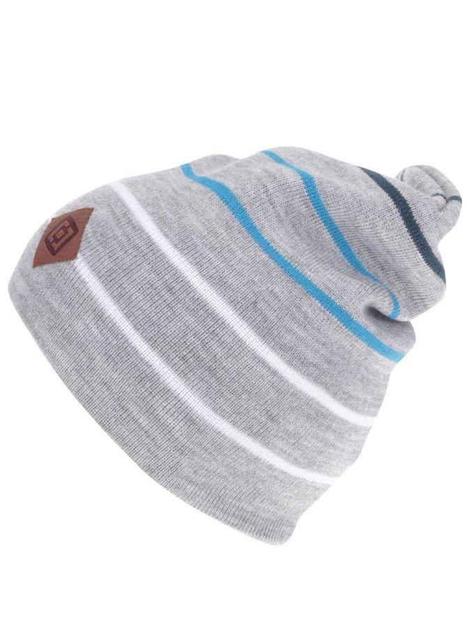 Sivá pánska čiapka s pruhmi Horsefeathers Landon