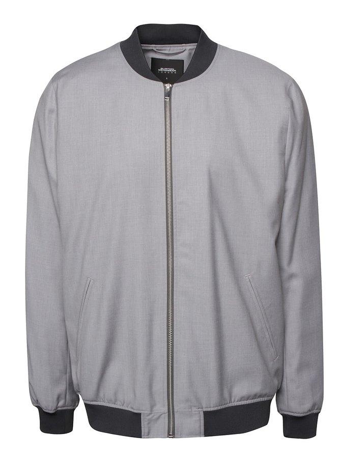 Jachetă bomber gri Burton Menswear London