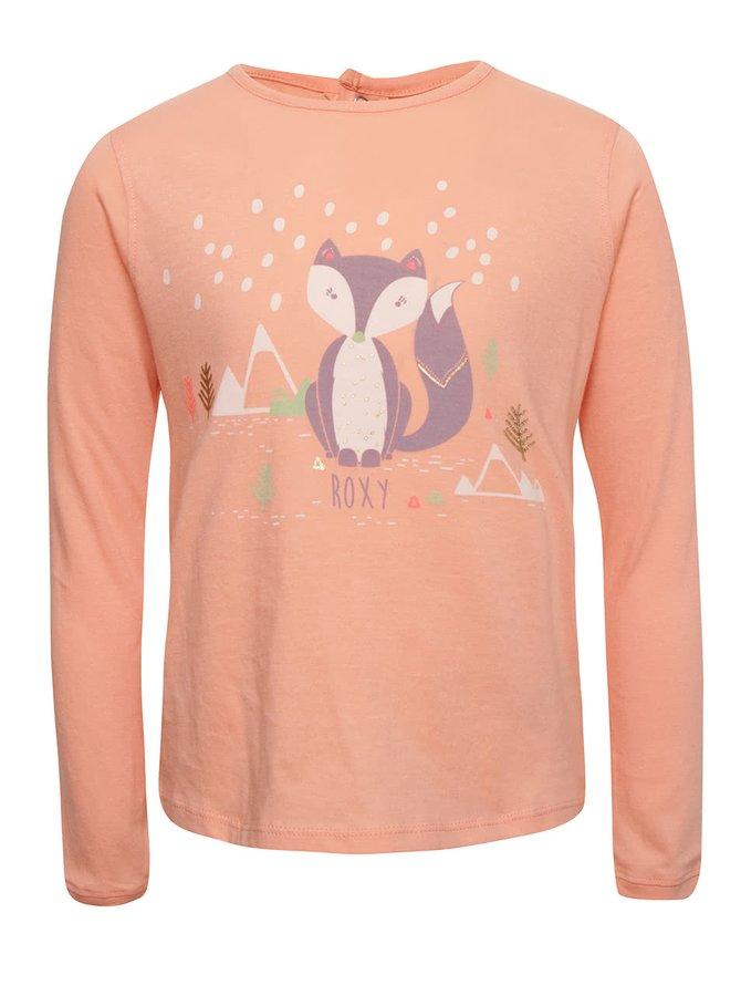 Bluză roz piersică Roxy pentru fete