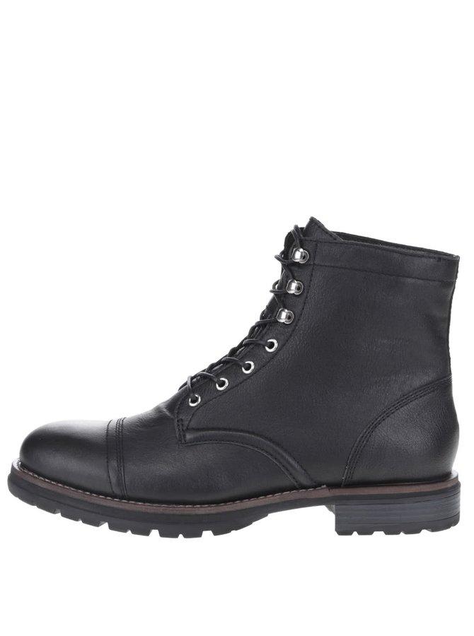 Černé pánské kožené boty se šněrováním Vagabond Rodrigo