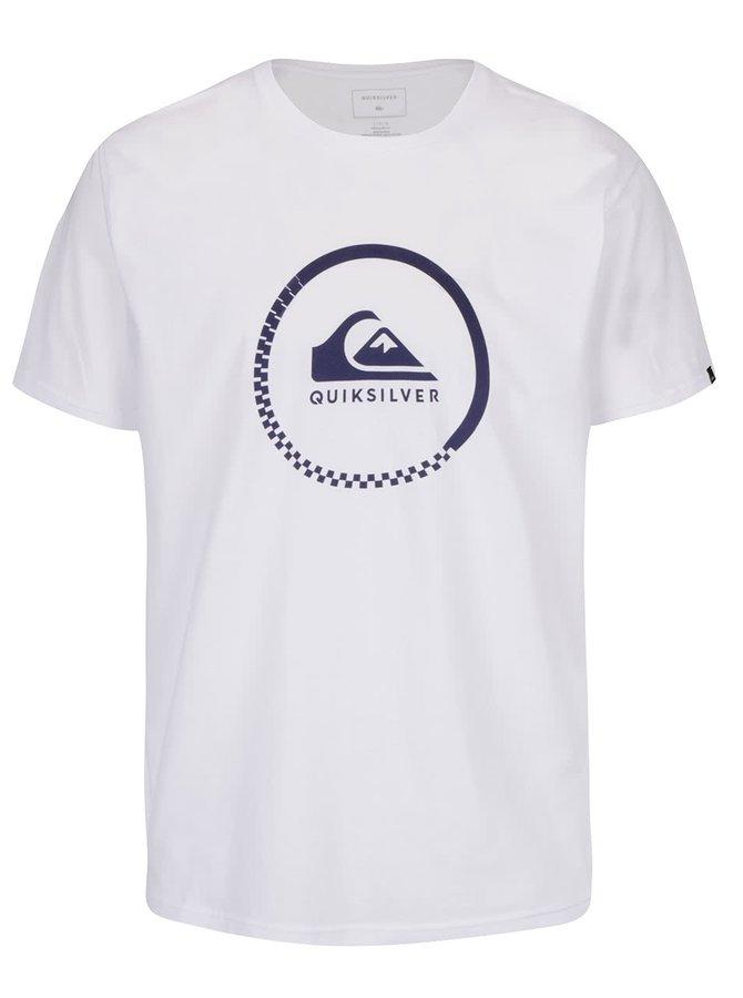 Biele pánske tričko s potlačou Quiksilver Clastess Activlo