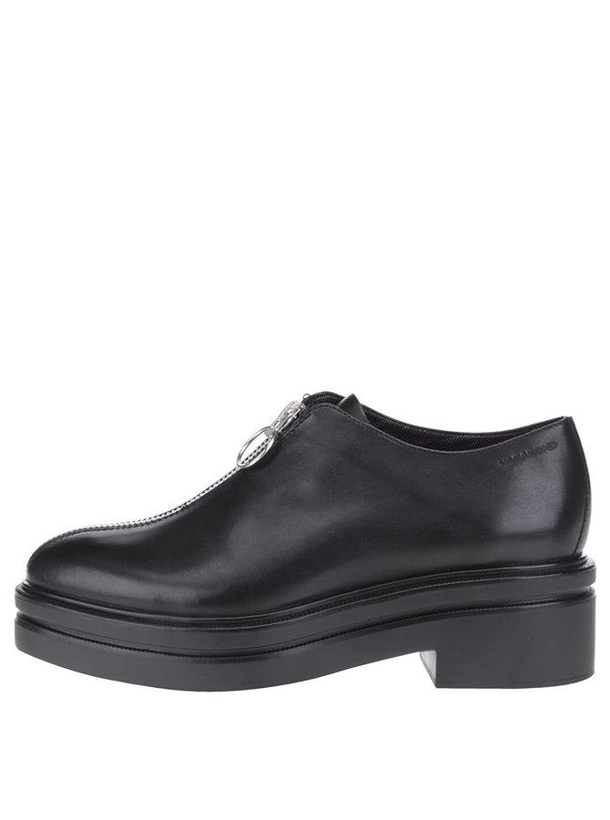 Pantofi negri Vagabond Iza cu fermoar