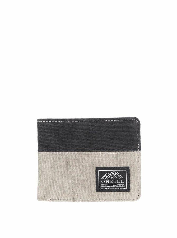 Svetlosivá pánska peňaženka s čiernym pruhom O'Neill Point Break