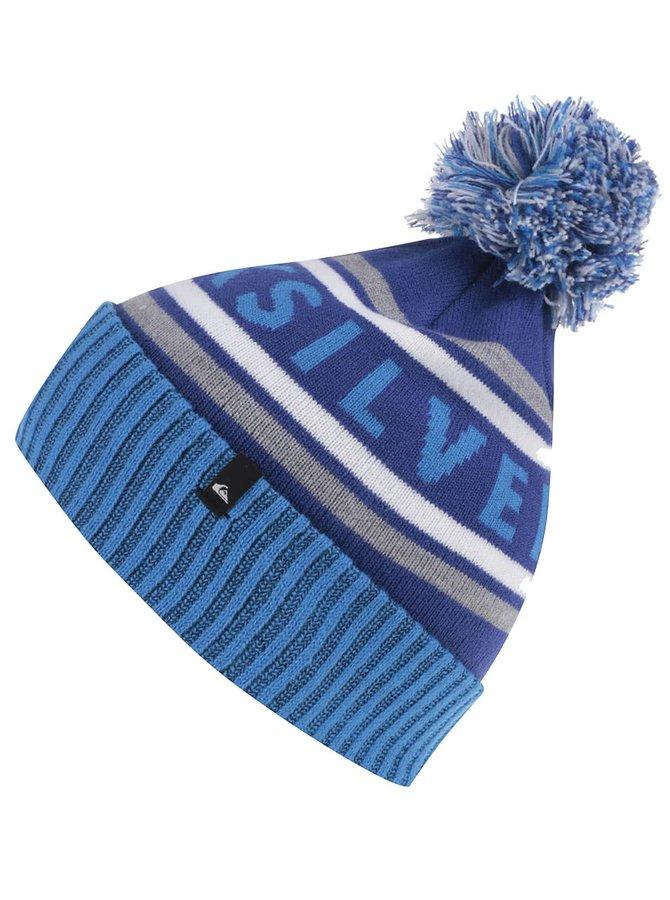 Modrá chlapčenská pruhovaná čapica Quiksilver