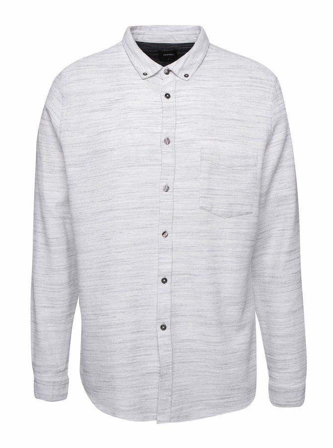 Krémová žíhaná košile Burton Menswear London