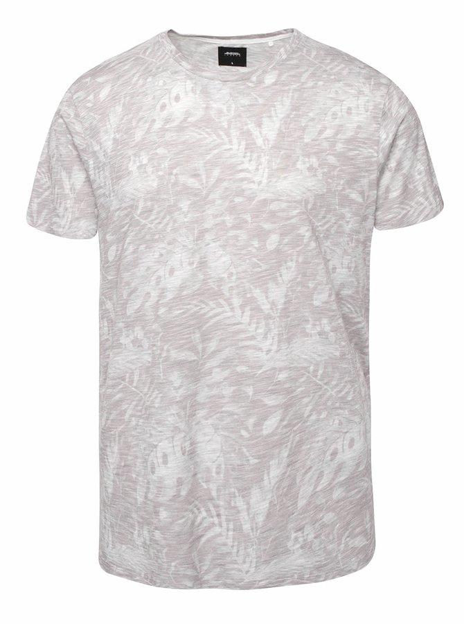 Světle šedé vzorovné triko Burton Menswear London