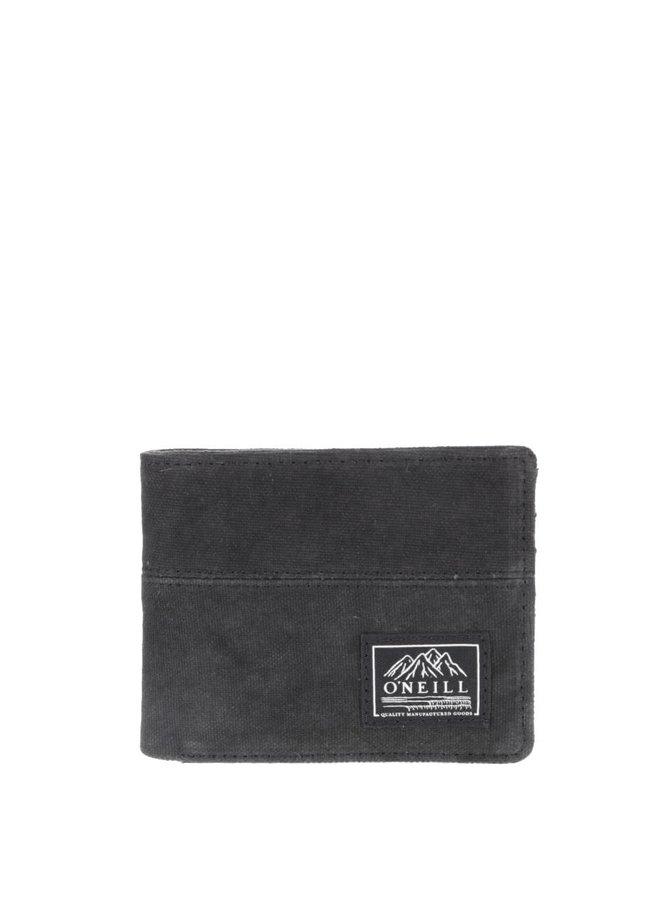 Čierna pánska peňaženka s čiernymi detailmi O'Neill Point Break