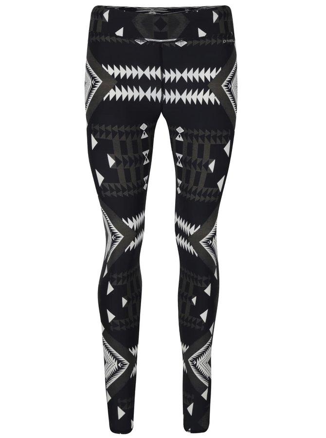 Sivo-čierne dámske legíny s krémovým vzorom O'Neill Surflegging