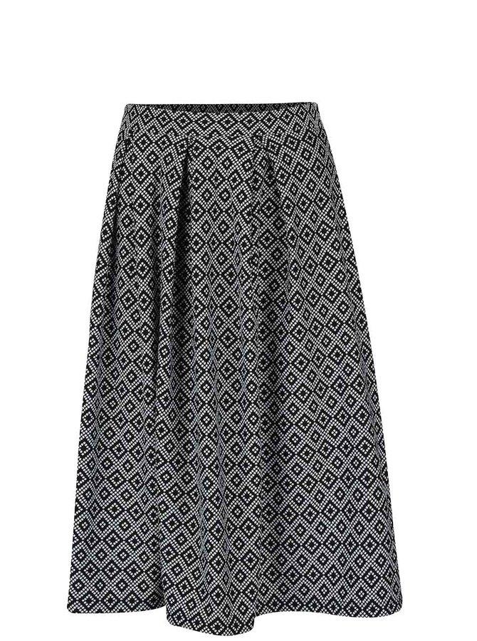 Krémovo-čierna vzorovaná sukňa Miss Selfridge