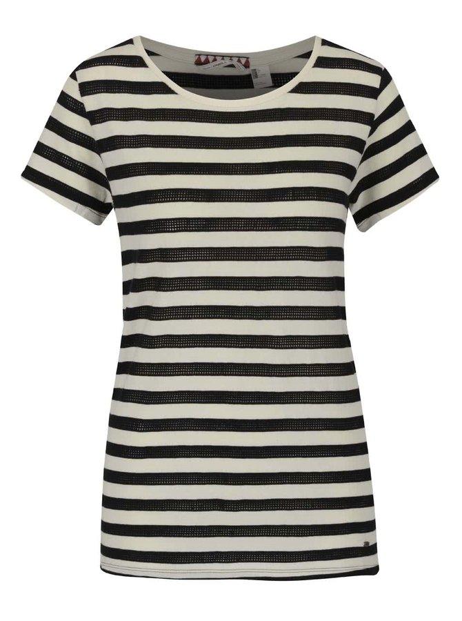 Čierno-béžové dámske pruhované tričko O'Neill Eyelet