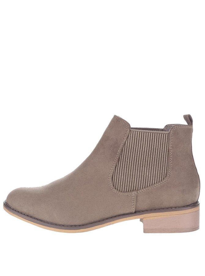 Hnedé členkové chelsea topánky Dorothy Perkins
