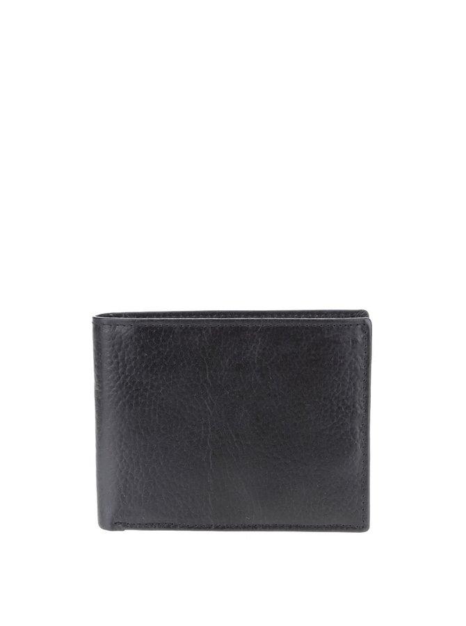 Čierna pánska kožená peňaženka Clarks Rook
