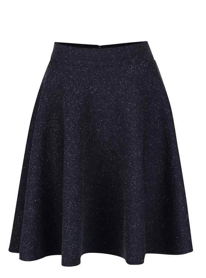 Tmavě modrá kolová sukně s drobným vzorováním Alchymi Fauré